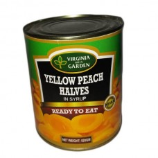 Virginia  yellow Peach halves in syrup 820gm