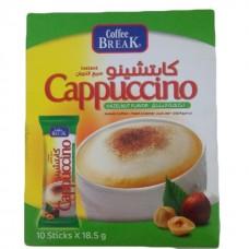 Coffee break instant cappuccino hazel nut 18.5gm