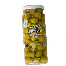 Luxe Green Pitted Olives 345g