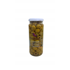 GOLDEN ORCHID GREEN PITTED OLIVES  345GM