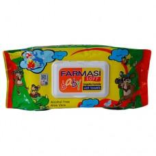 Farmasi Baby Wipes Eco Pack Aloe 70s