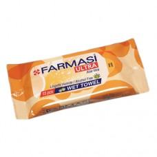 Farmasi Pocket Wet Wipes Orange 15s