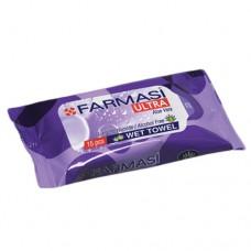 Farmasi Pocket Wet Wipes Purple 15s